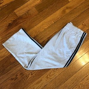 Adidas Gray 3 Stripe Sweatpants Gym Crossfit Ufc
